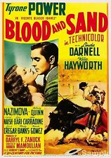 Blood and Sand Tyrone Power 1941 Cult Movie Film Poster Print Picture A4