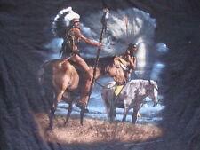 Vintage 3D Emblem Indian Native American Boone North Carolina T Shirt Men's XL