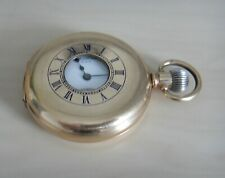 WALTHAM GOLD FILLED HALF HUNTER POCKET WATCH