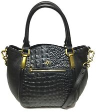 NWT orYANY Woman s Leather Croco Satchel Black Adjustable Strap MSRP    489.00 d3ef3be89cf28