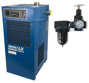 SCHULZ 125 CFM REFRIGERATED COMPRESSED AIR DRYER, 25HP & 30HP COMPRESSORS, 115V