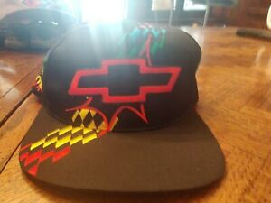 Vintage 90s 80s Chevy Multicolor Trucker Hat Black Truck 2nd place means nothing