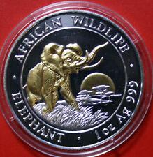 "Somalia 100 Shillings 2009 ""African Wildlife"" Elefant #F3787 ST-BU Gold gildet"