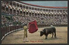 Spain. Bull Fight. La Corrida de Toros - Pase de Muleta - Early Colour Postcard
