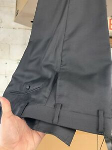 NEW Size 42 Men's Black Dress Pant 100% Wool Super 150 Made In Italy R/$275