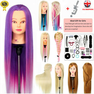 Neverland Beauty Training Head Mannequin Styling Doll W/Hair Braid Tool Sets UK