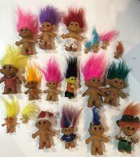 Vintage Russ & Other Trolls Figure Doll Lot of 19 Santa Leprechaun Frankenstein
