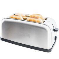 H.koenig TOS28 Langschlitz Edelstahl Toaster 1500W