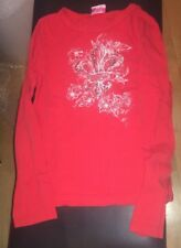 R & J Kidture -  Romeo & Juliet Couture Red Top Long Sleeve T-Shirt Medium Size