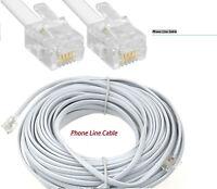 3M 5M 10M 15M 20M RJ11 Broadband ADSL Phone Line BT Internet Modem Router Cable