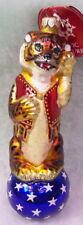 Slavic Treasures Retired Glass Ornament - Balancing Act (tiger)