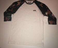 Vans Mens Death Bloom Raglan 3/4 Sleeve T-shirt Size L. (B1)