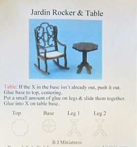 """1/4"""" scale Jardin Rocker & table kit by BJ Miniatures"""