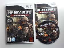 Heavy Fire: Afghanistan (Nintendo Wii, 2011) Complete - Clean - FREE SHIPPING !