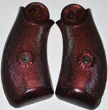 "H&R Topbreak premier 32 pistol girps black russet plastic with screw 2&1/4"" grip"