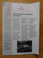 HONDA NEWS BRIEFS orig Issue 50 June 1999 UK Mkt Brochure