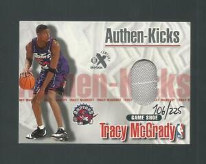 1999 Skybox EX Authen-Kicks Tracy McGrady Raptors Game Used Shoe Rare Sp 106/225