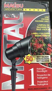 Malibu Metal Cast 50W Lighting Landscape Floodlight Black Finish CL1 New in Box