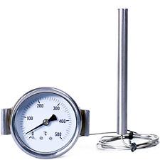 thermomètre pour four à pizza, barbecue poêle à bois à 500 degrés capillaire