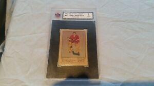 1951 parhurst terry sawchuck rookie card # 61