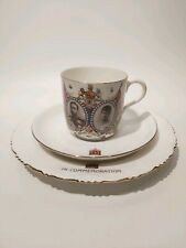 King George V and Queen Mary Commemorative Tea Trio, Crowned June 22nd 1911