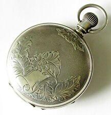 size 7 jewels Coin silver case Runs New listing Antique Hampden Springfield Pocket Watch 18