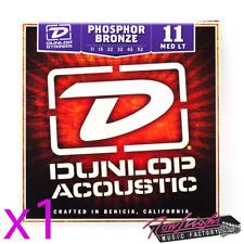 Jim Dunlop 11/52 Medium Light Phospher Bronze Acoustic Guitar Strings - 1 Set