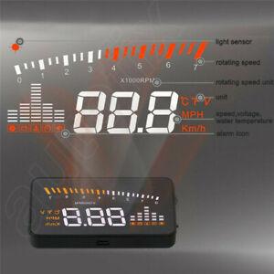Universal 3.5'' Car HUD Head Up Display Multi-Colour WindScreen Projector