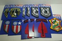 Lot of 12 new military sew on iron on Patches for resale free shipping 3c 5A