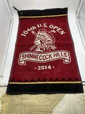 VTG 2004 SHINNECOCK HILLS US OPEN GOLF TOWEL SIR C HATTON BURGUNDY EUC