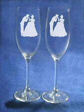 Cinderella Wedding Glasses Flutes Free Engraving Personalized Just for you NEW