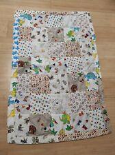 Baby-Krabbeldecke Patchworkdecke Spieldecke handgenäht Baumwolle bunt