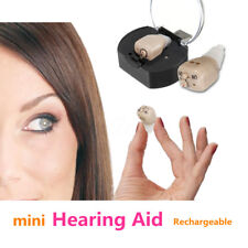 Best Rechargeable Digital Mini In Ear Amplifier Micro Hearing Aid Optimal Sound