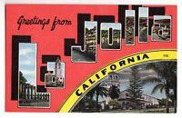 [48264] OLD LARGE LETTER POSTCARD GREETINGS LA JOLLA, CALIFORNIA