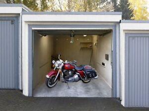 Effektbild für Garagentore - Motorrad