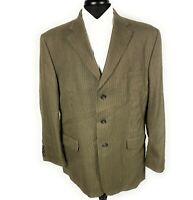 Mens Haggar Blazer Sport Jacket Size 44R Copper Bronze 3 Button