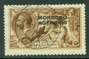 SG 51 Morocco Agencies 2/6 yellow-brown (DLR printing). Very fine used with a...