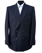 """NEW - Navy Blue Double Breasted Blazer 42"""" Long (RRP £139)"""