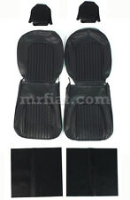 Alfa Romeo Spider Black Front Seat Cover Set 69-77 New