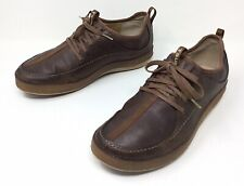 Men's TSUBO Brown Leather/ Nylon Lace Up Casual Walking Athletic Shoes Sz. 9.5