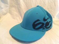 NIKE 6.0 Skate Logo Blue Black Fitted Flat Brim Hat Cap Stretch Fit Adult L/XL