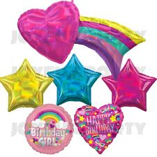 Rainbow Heart Party Kit Backdrop, Baby Shower, Birthday Party Supplies Color Pop