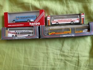 4 x Herpa Model Coach/Bus  collection 1:87