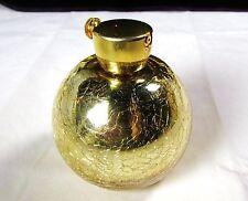 Vintage HolmSpray Gold Mercury Crackle Glass Perfume Bottle Atomizer w/ Label