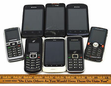 MOBILE PHONE Lot of 8 TOUCH SCREEN & OTHER CELL PHONES Kyocera SONY Samsung HTC+