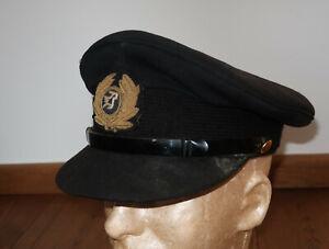 Unbekannte Airline Fluglinie Pilot Captain Mütze Schirmmütze Uniform