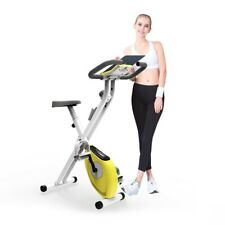 Folding Exercise Bike Magnetic Stationary Indoor Cycling Cardio Home Gym Workout