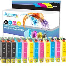 12 cartouches d'encre Jumao compatibles pour Epson WorkForce WF 2750DWF 2760DWF