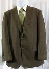 Alan Flusser Sport Coat 2 Button 42 Lambswool Multi Color hounds tooth