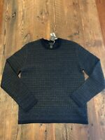 NEW Magaschoni Man Men's Size Small Wool Yak Blend Gray Crew Neck Sweater $298